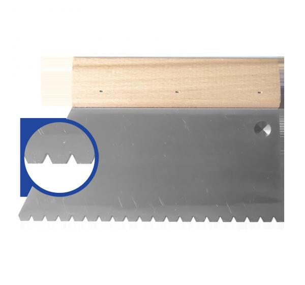 Glue spatula  180*B6 (9 notch)